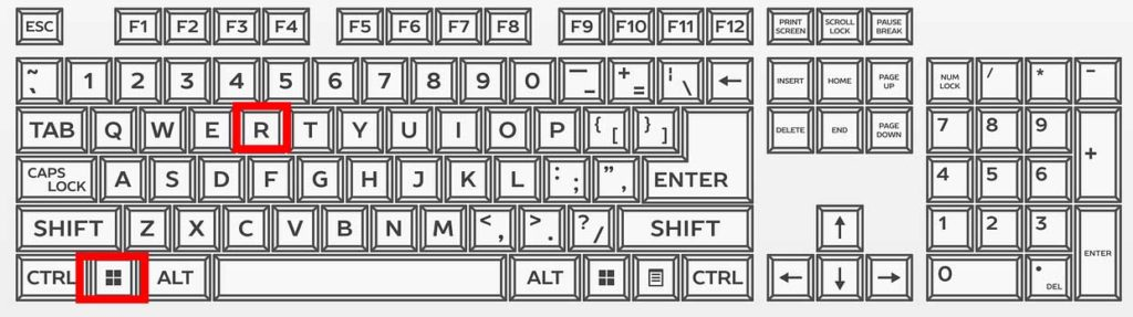 klávesové zkratky windows