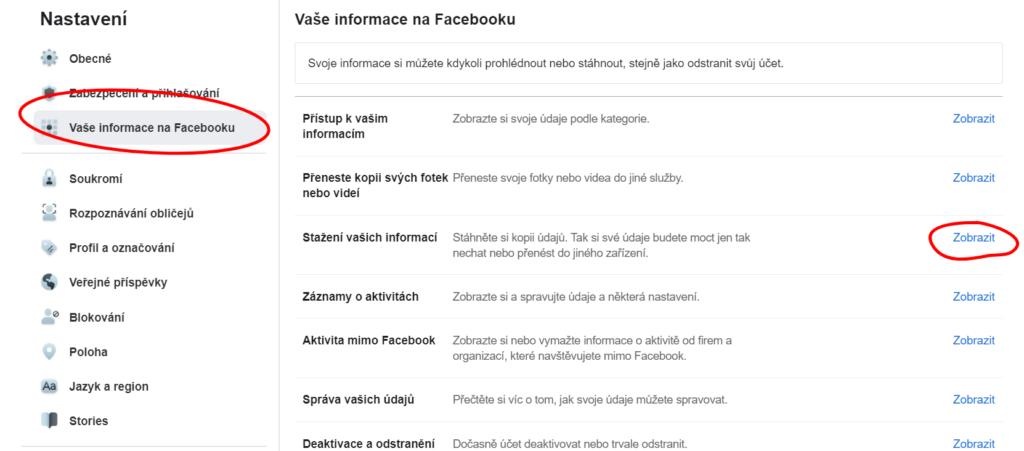 jak si uložit fotky z facebooku do počítače