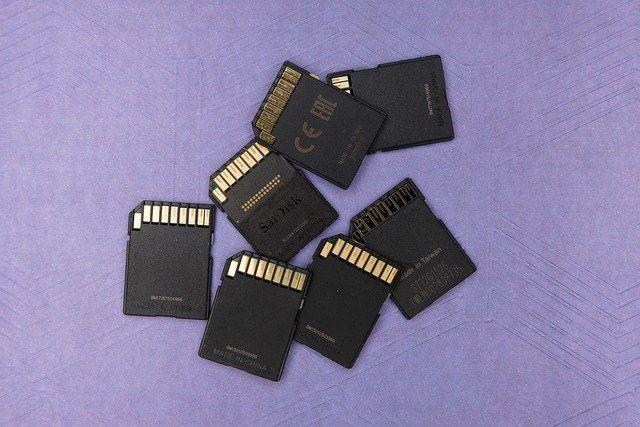 oprava a formátování SD karty